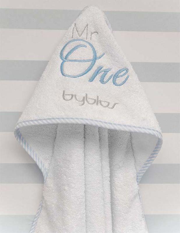 Μπουρνούζι τρίγωνο Design 82 Mr One Blue Byblos home   away   λευκά είδη βρεφικά   μπουρνούζια