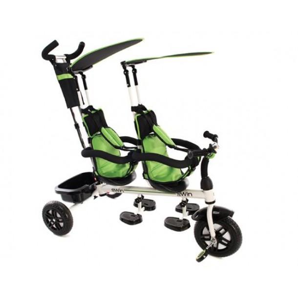 Τρίκυκλο Ποδηλατάκι Kikkaboo Διδύμων 2Win Green