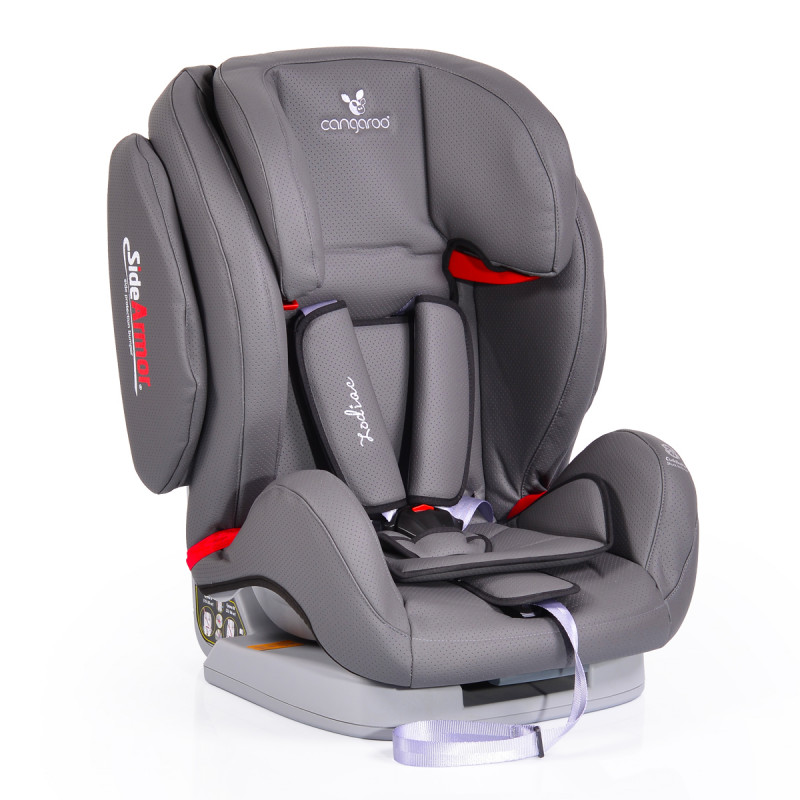 Cangaroo Κάθισμα Αυτοκινήτου Zodiac Eco Leather, 9-36kg Grey 3800146238339