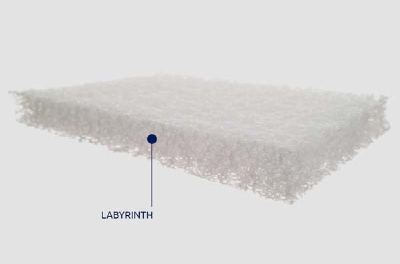 Βρεφικό Στρώμα Greco Strom Ίρις Labyrinth Ζακάρ Βαμβακερο ΕΩΣ 66-74x140cm