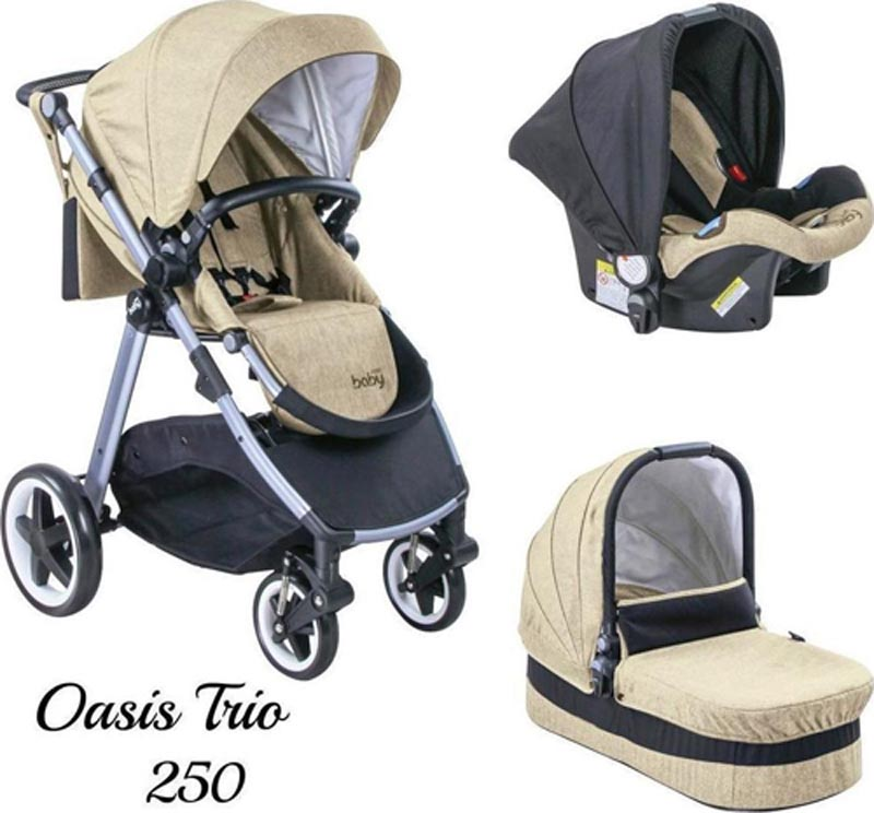 Πολυκαρότσι Oasis 250 Trio Beige Just Baby
