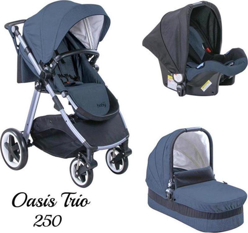 Πολυκαρότσι Oasis 250 Trio Blue Just Baby