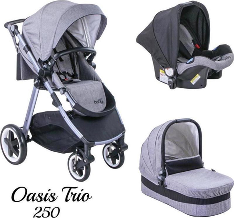 Πολυκαρότσι Oasis 250 Trio Grey Just Baby