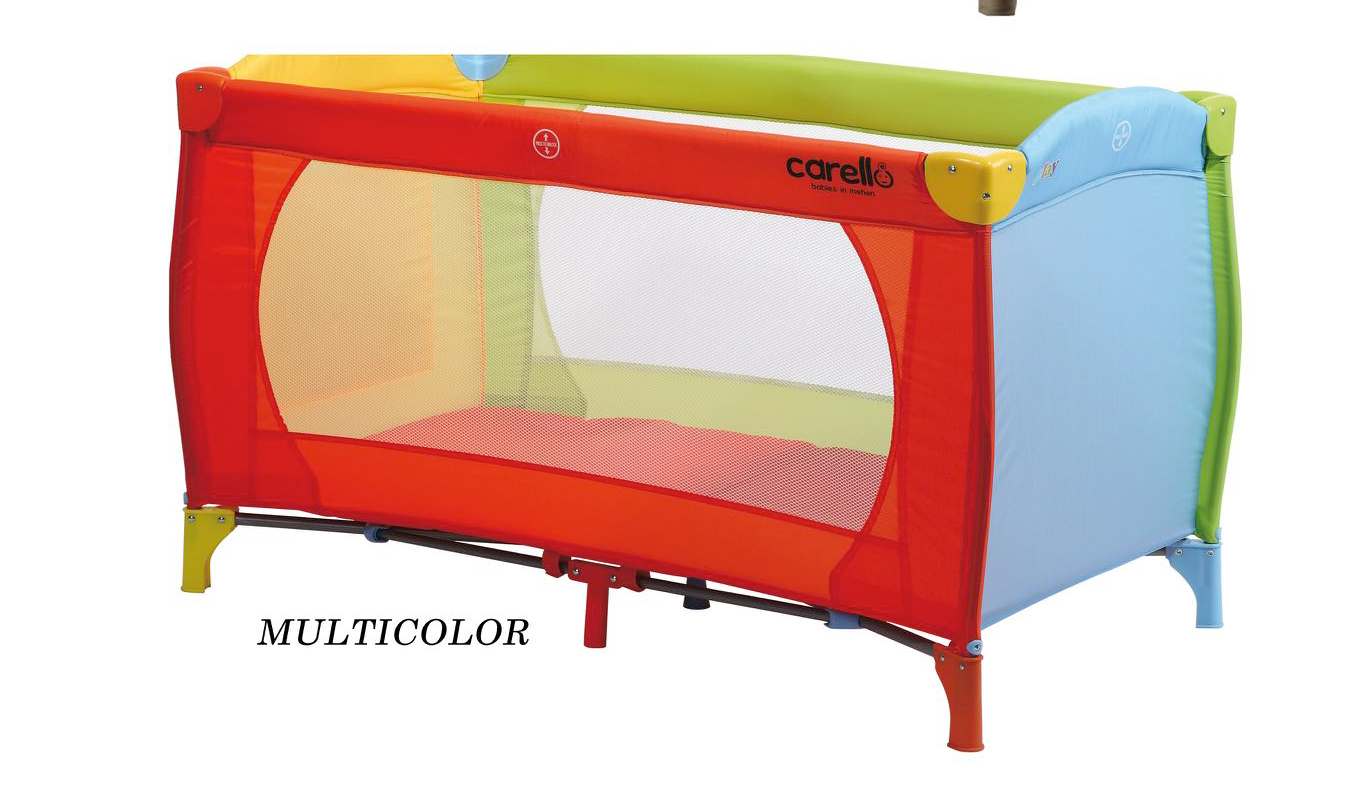 Παρκοκρέβατο Resort Multi Color Carello