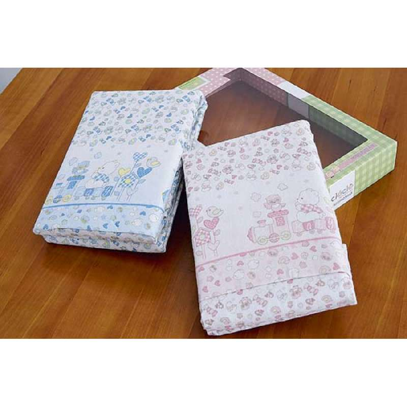 Klotsotiras Βρεφικά Σεντόνια Κούνιας σετ 3 τεμ Baby 120Χ180 Pink