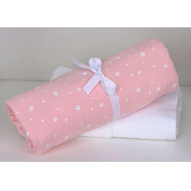 Baby Oliver Βρεφική Πάνα Αγκαλιάς 80X80 Μουσελίνα Muslin Pink Design 372 46-6748/372