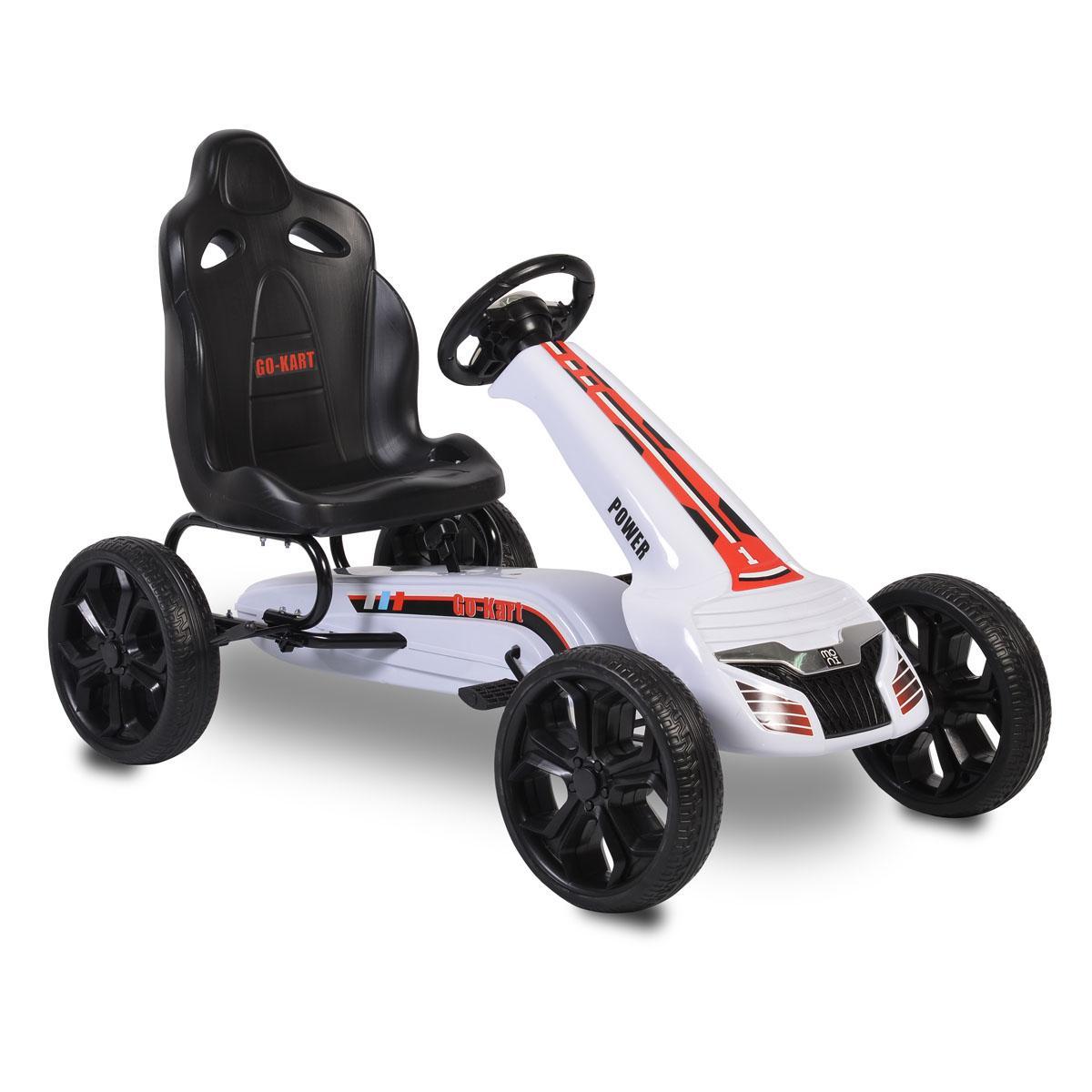 Παιδικό αυτοκινητάκι με πετάλια Go Cart Olympus white TL6988A Cangaroo