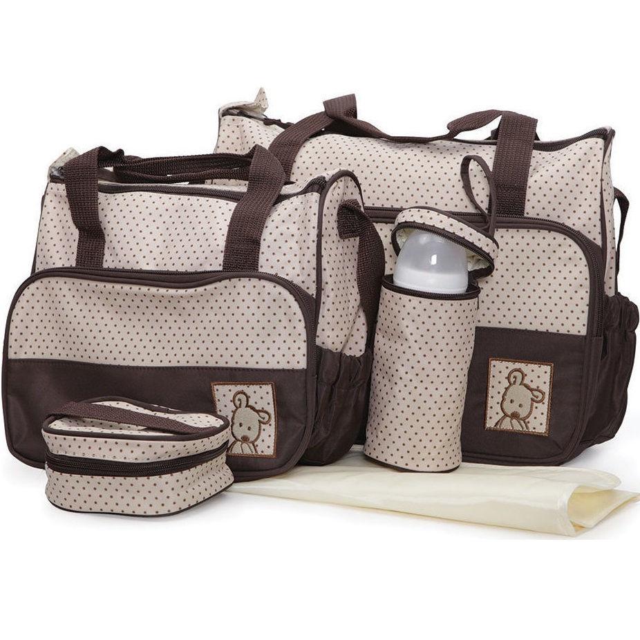 Σετ βρεφική τσάνταΤσάντα αλλαξιέρα Θερμός Stella Brown Cangaroo