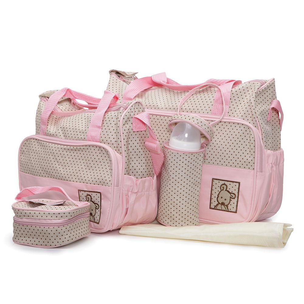 Σετ βρεφική τσάνταΤσάντα αλλαξιέρα Θερμός Stella Pink Cangaroo