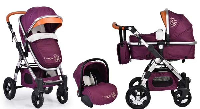 Πολυκαρότσι Cangaroo Luxor 3 in 1 Purple