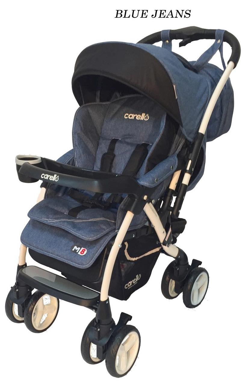 Βρεφικό καρότσι M8 Blue Jeans Carello βόλτα   ασφάλεια   μετακινηση με καροτσι   καρότσια βρεφικά