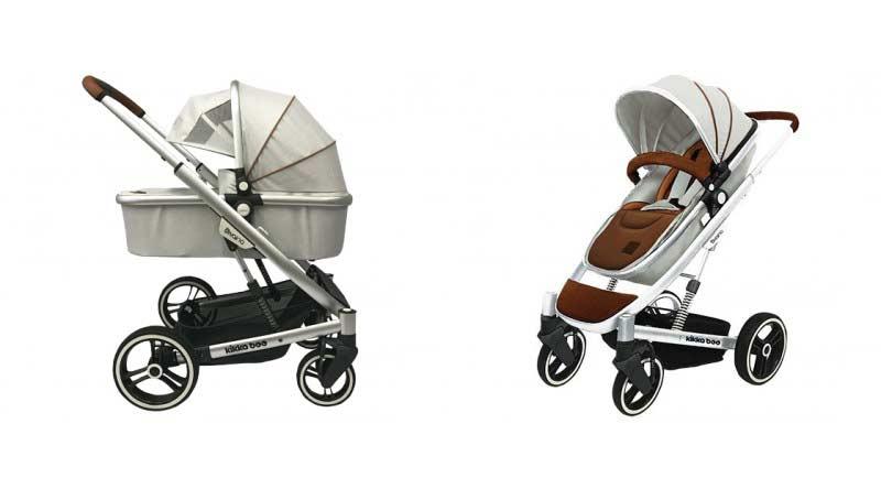Καρότσι Divaina 2σε1 με πορτ-μπεμπε και ποδόσακο Grey Kikkaboo 31001020005 βόλτα   ασφάλεια   μετακινηση με καροτσι   σύστημα μεταφοράς