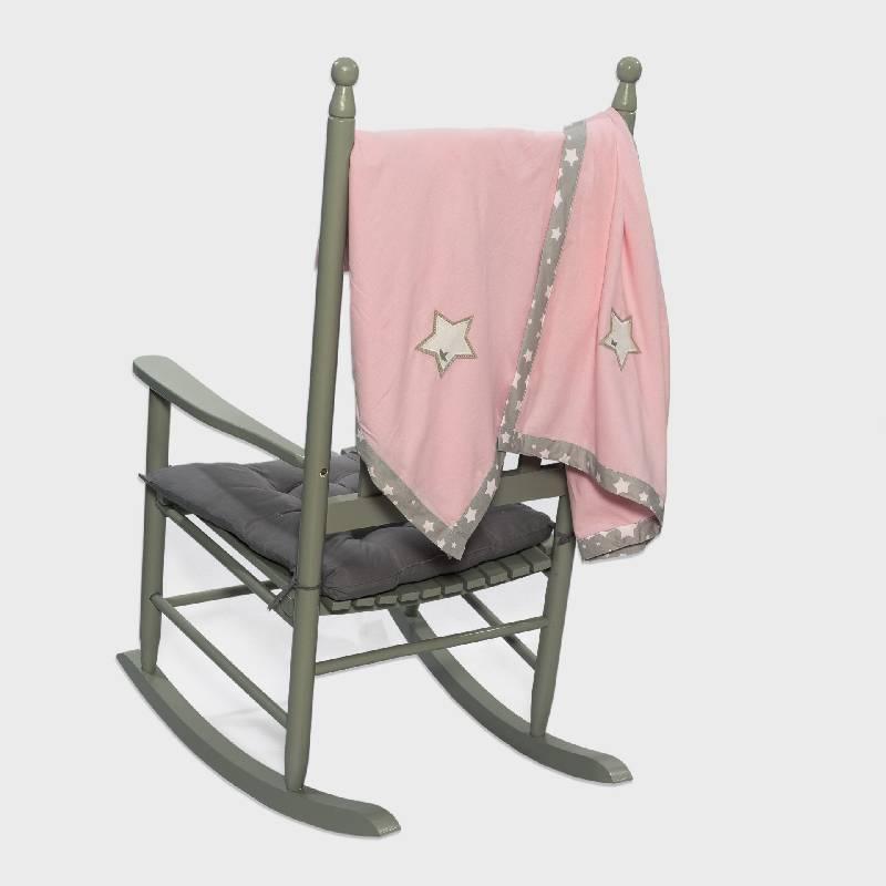 Φανελένια κουβέρτα ροζ Abo