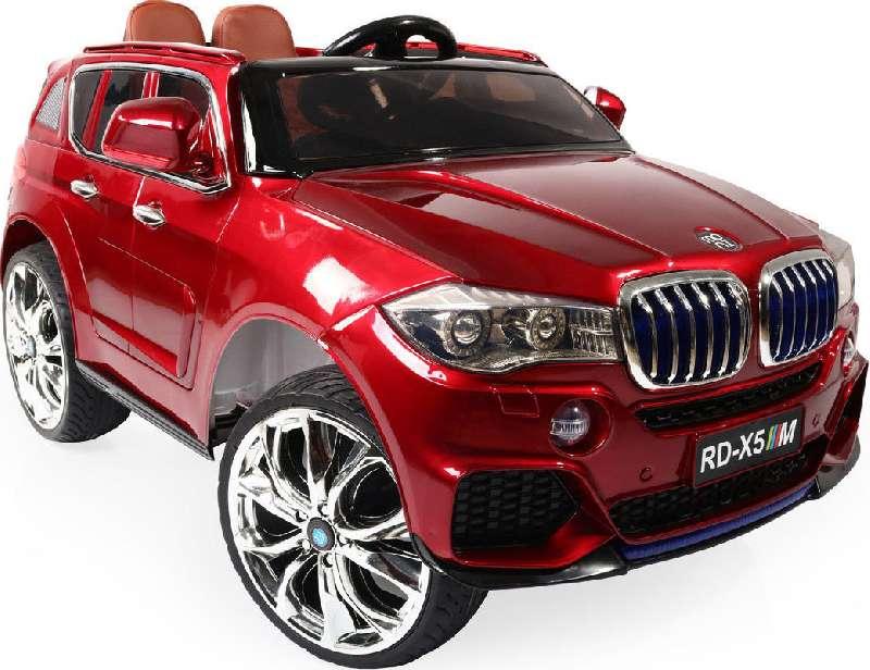 Ηλεκτροκίνητο Αυτοκίνητο 12V Jeep BMW M5X RD500 Eva Wheels Red Moni