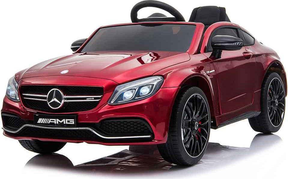 Ηλεκτροκίνητο Αυτοκίνητο 12V Mercedes Benz C63s QY1588 Red Moni