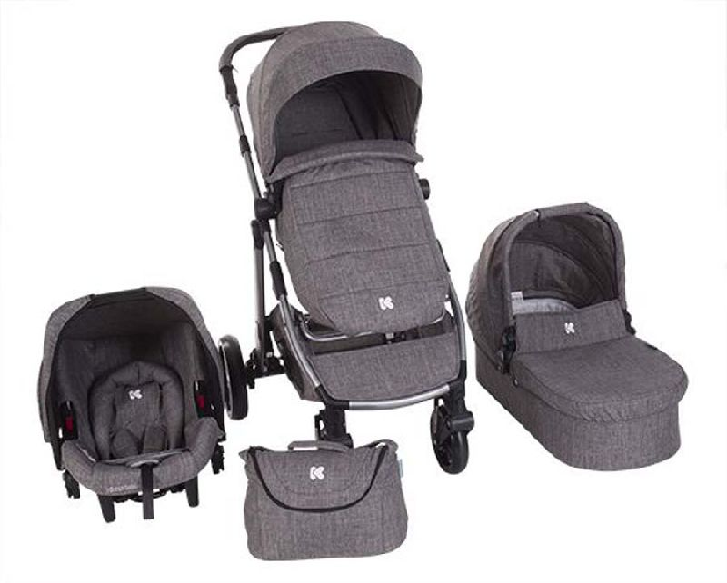Πολυκαρότσι 3in1 Ugo Dark Grey Melange Kikka boo