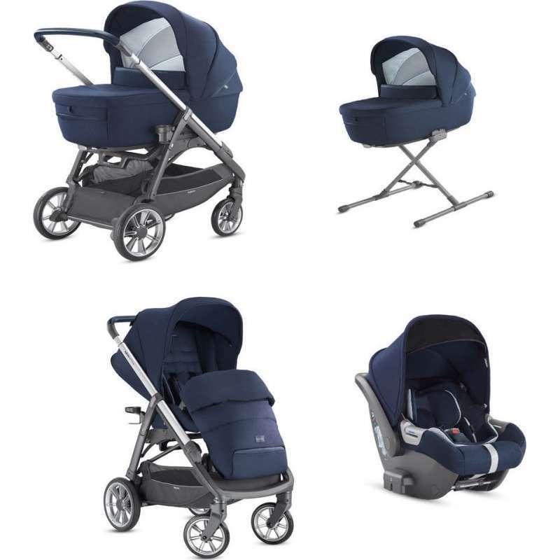 System Aptica Quattro Portland Blue Full Kit With Darwin i-size Car Seat Inglesina
