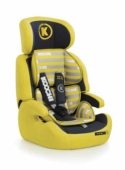 Κάθισμα Koochi MOTOHERO - YELLOW βόλτα   ασφάλεια   καθίσματα αυτοκινήτου   παιδικά καθίσματα αυτοκινήτου 9 εώς 3