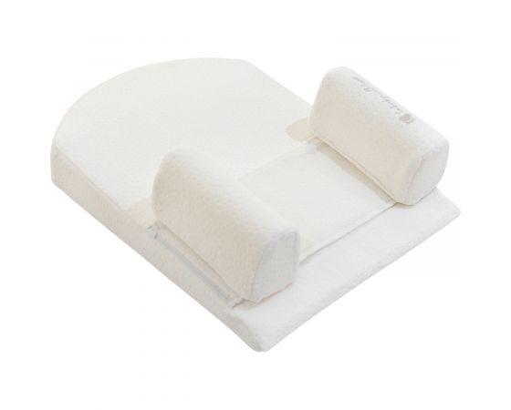 Memory foam sleep Βρεφικό μαξιλάρι με θέση τοποθέτησης ύπνου White Velvet 51X36 Kikka boo
