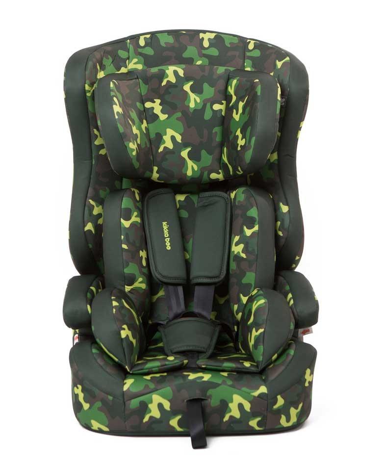 Κάθισμα Αυτοκινήτου Kikkaboo Camouflage 160041 9-36 kg -  Green