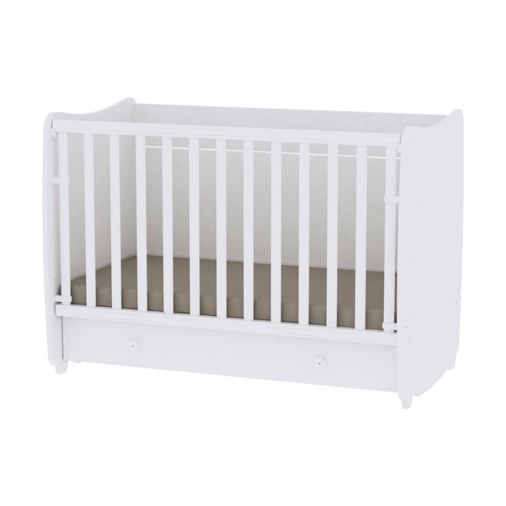 Πολυμορφικό Μετατρεπόμενο Βρεφικό Κρεβάτι Lorelli Dream New 60x120 White