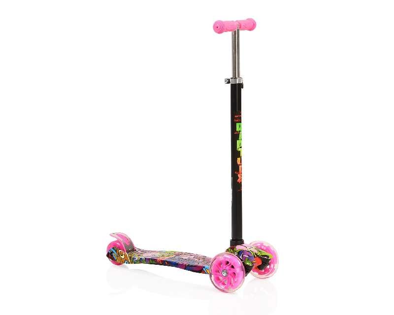 Moni Παιδικό Πατίνι Scooter Rapture με Φωτιζόμενες Ρόδες Pink