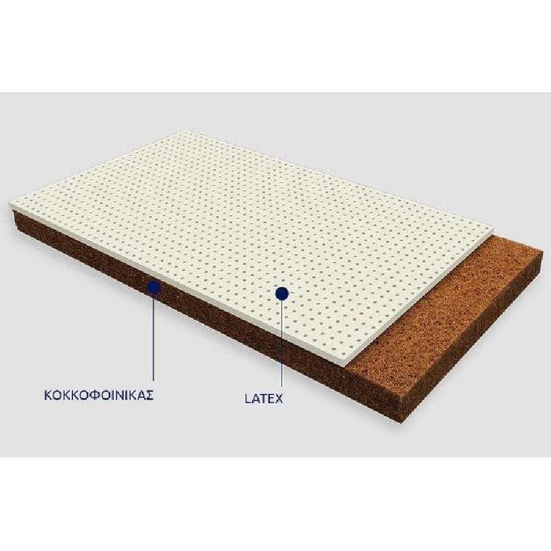 Παιδικό Στρώμα Ερατώ Cocolatex με κάλυμμα Jacquard Cotton ΕΩΣ 101-80x110-200cm Greco Strom