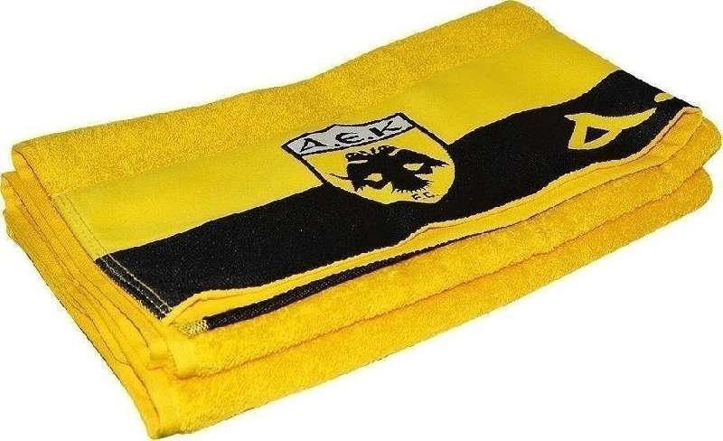 Palamaiki Παιδικές Πετσετες Πετσέτα Official Team Licenced Λουτρού 70X140 Α.Ε.Κ. 1924 TOWEL Yellow