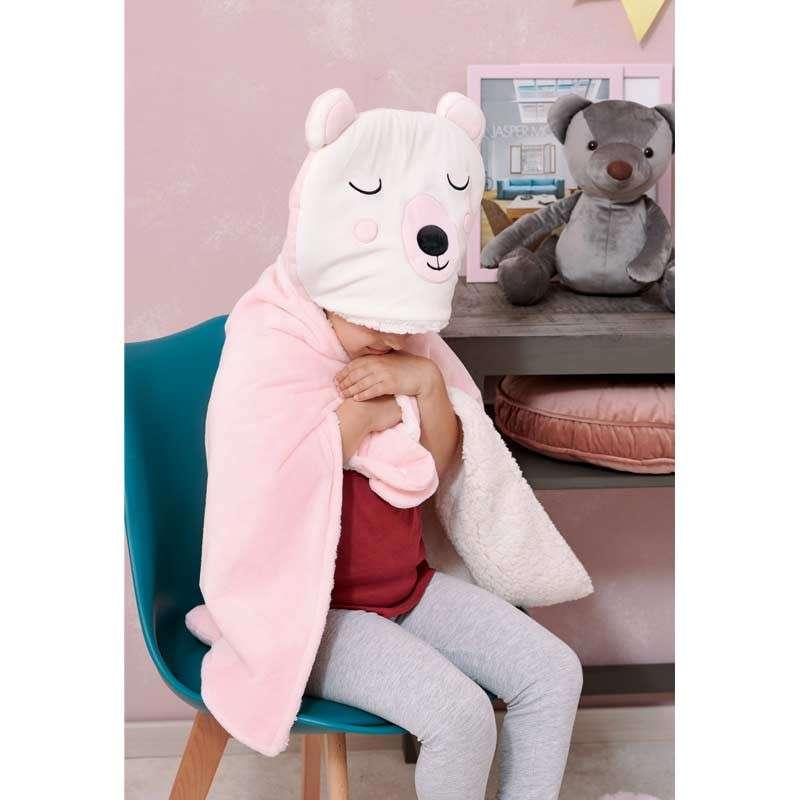 Palamaiki Βρεφική Κουβέρτα Αγκαλιάς με κουκούλα NB-0126 Pink 5205857195236 60Χ90