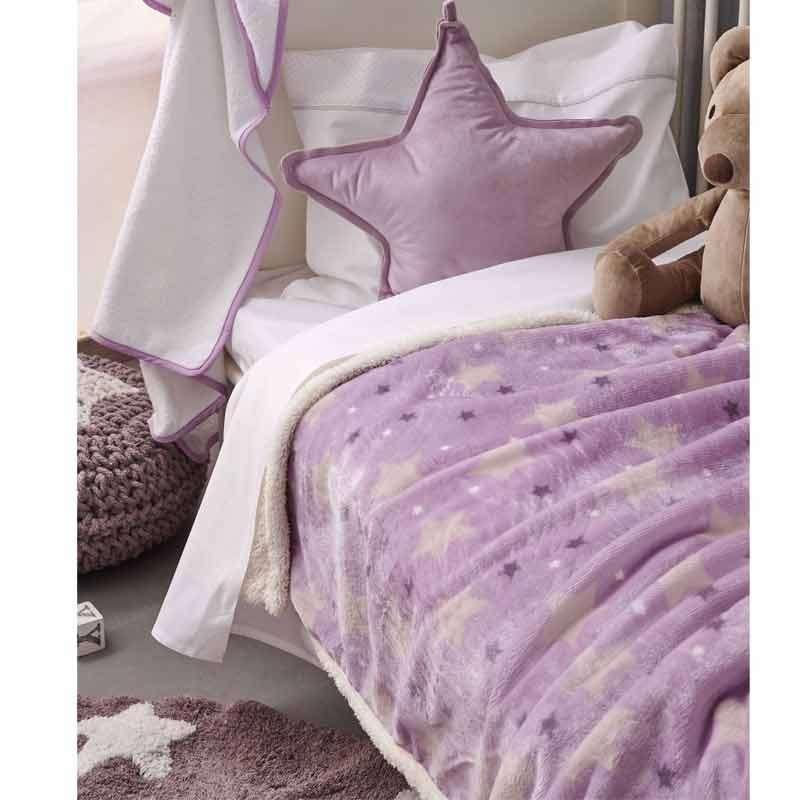 Palamaiki Βρεφική Κουβέρτα Κούνιας Fleece Sky Girl 5205857203078 110X140