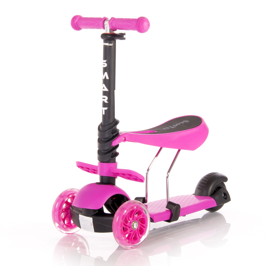 Πατίνι Smart Scooter με κάθισμα Pink Lorelli