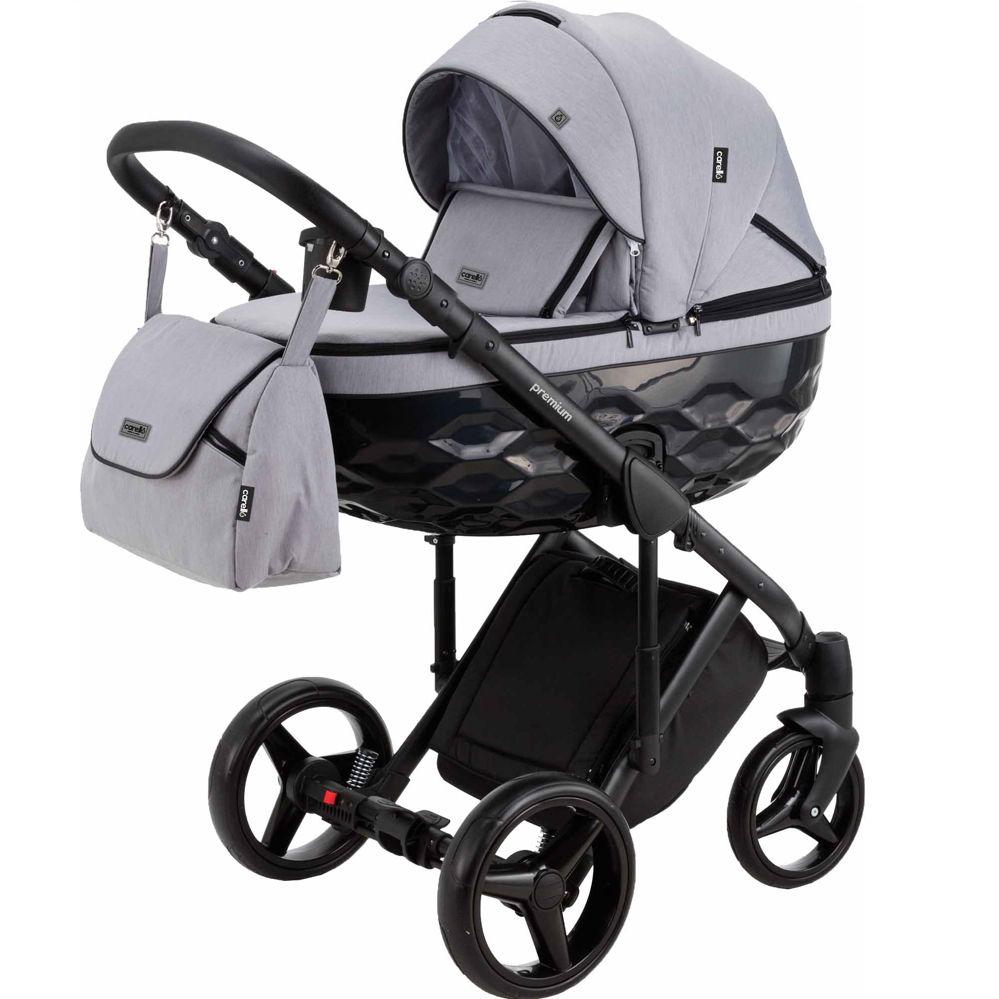 Πολυκαρότσι Premium C202 Grey 3 σε 1 ( καλαθούνα + κάθισμα αυτοκινήτου) Carello