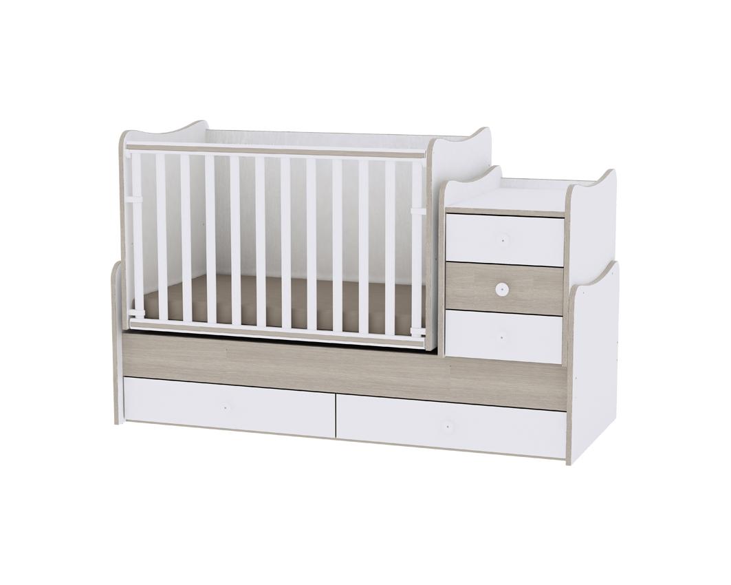 Πολυμορφικό Μετατρεπόμενο Παιδικό Κρεβάτι Maxi Plus White/Amber Lorelli