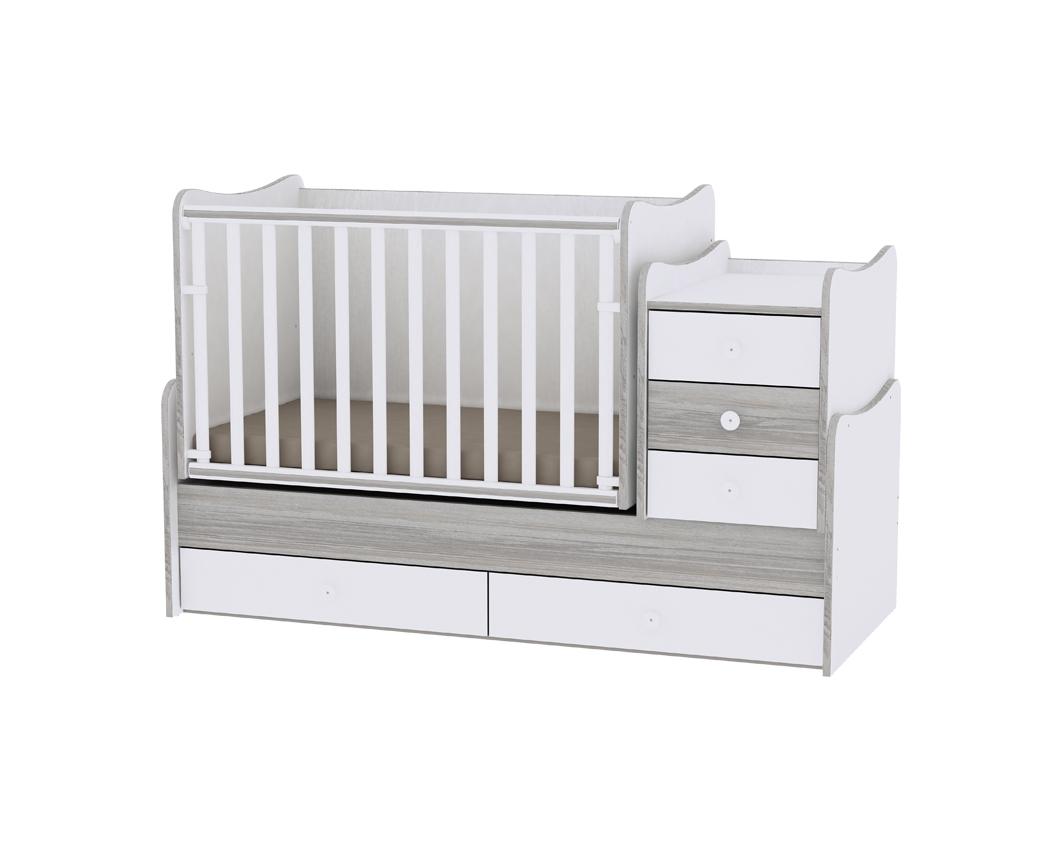 Πολυμορφικό Μετατρεπόμενο Παιδικό Κρεβάτι Maxi Plus White/Artwood Lorelli