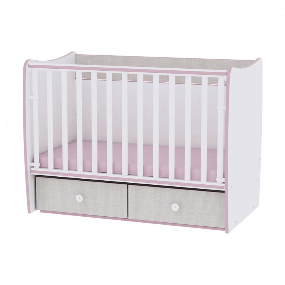 Πολυμορφικό Μετατρεπόμενο Κρεβάτι Βρεφικό Lorelli Matrix New 60x120 Pink Crossline