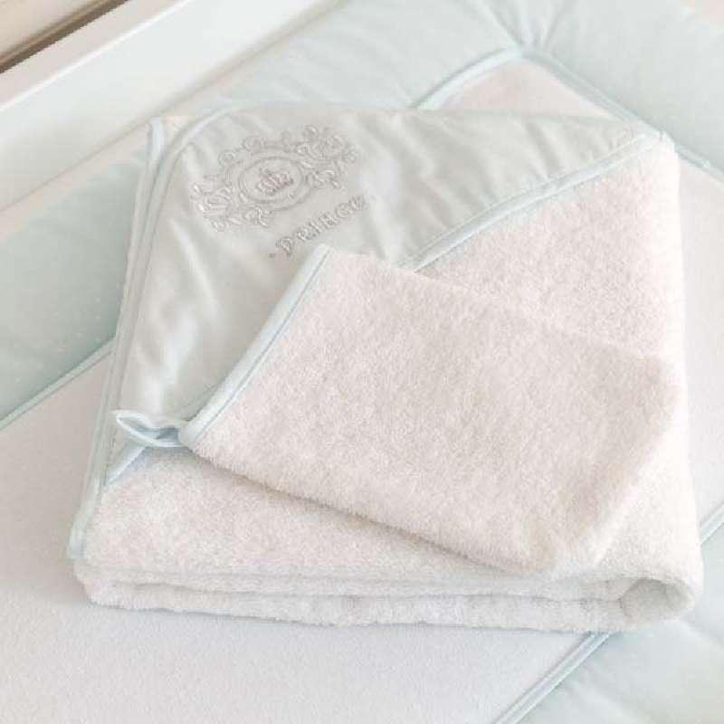 Μπουρνούζι τρίγωνο και γάντι Prince Funna Baby home   away   λευκά είδη   λευκά είδη βρεφικά   σχέδια προίκας
