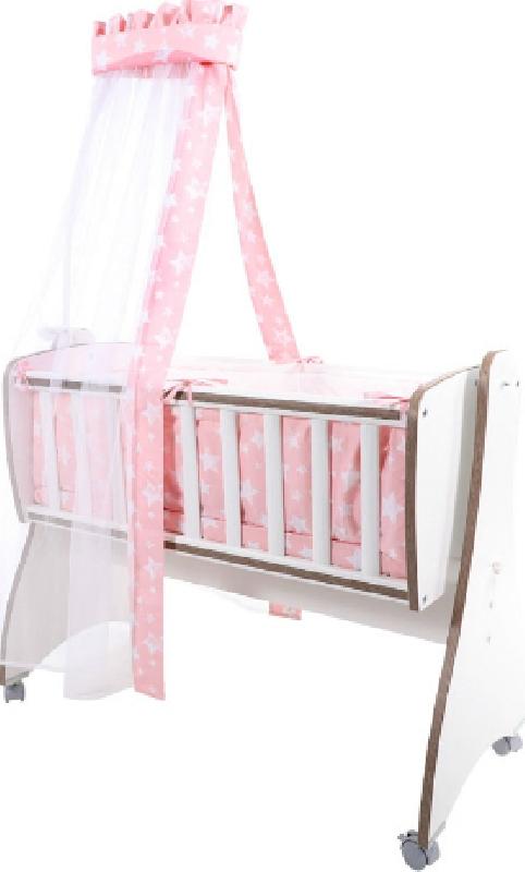 Σετ Προίκας 7 τεμαχίων για Λίκνο First Dreams Pink Stars 20051160005 Lorelli
