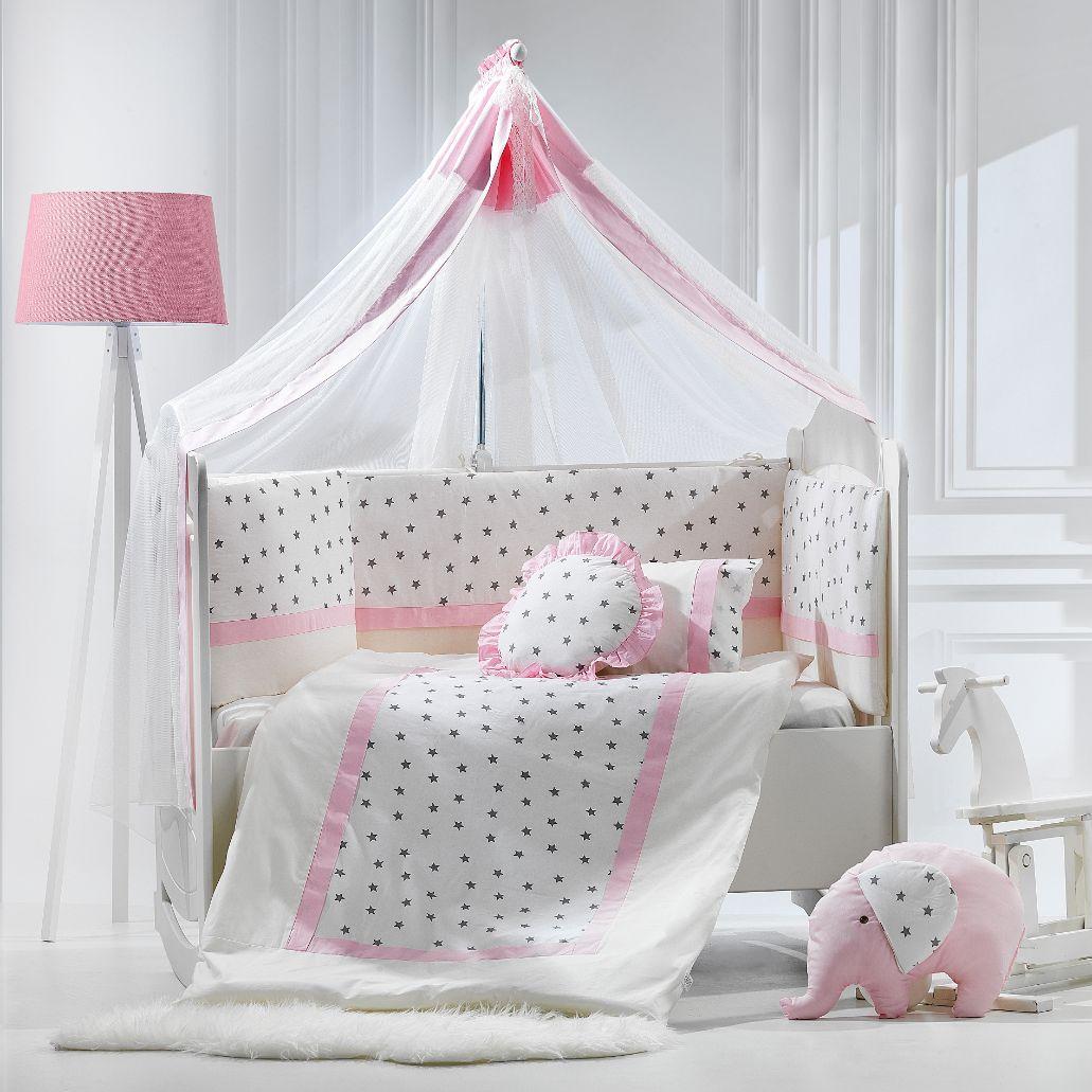 Σετ προίκας 9τμχ70*140 elephant ροζ Abo