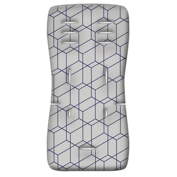 Στρωματάκι καροτσιού 3D Fiber Honey Comb γκρι Greco Strom