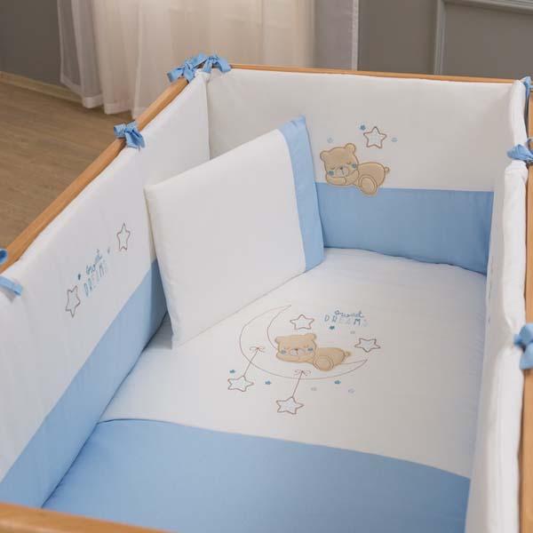 Προίκα μωρού 6 τμχ Sweet Dreams blue Funna Baby home   away   λευκά είδη   λευκά είδη βρεφικά   σέτ προίκας μωρού