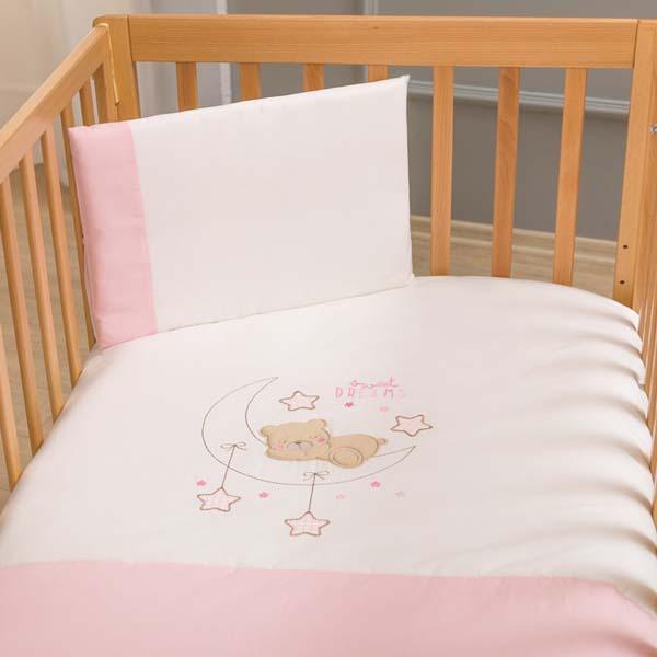 Σετ σεντόνια 3 τμχ Sweet Dreams pink Funna Baby