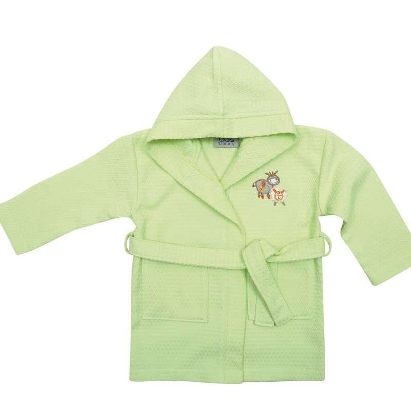 Βρεφικό Μπουρνουζακι με μανίκι No2 Das home Baby Smile Embroidery 6389 Das Home Βρεφική Κάπα Μπουρνούζι